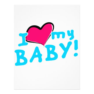 I love (heart) my baby boy flyer design