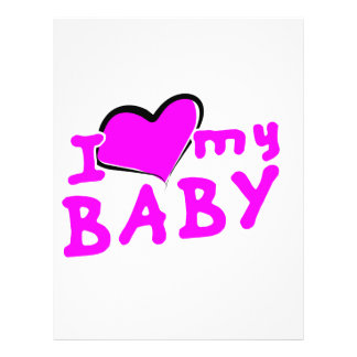 I love (heart) my baby! (girl) 21.5 cm x 28 cm flyer