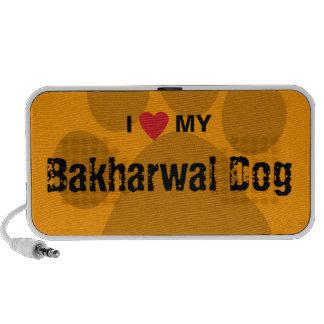 I Love (Heart) My Bakharwal Dog Paw Print Mini Speaker