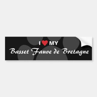 I Love (Heart) My Basset Fauve de Bretagne Bumper Sticker