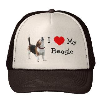 I Love Heart My Beagle Cute Dog Hat