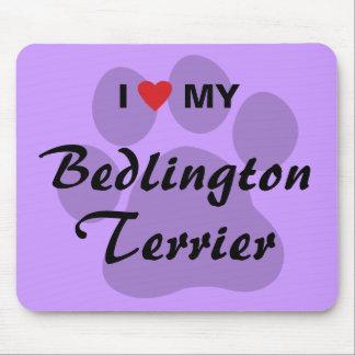 I Love Heart My Bedlington Terrier Mousepad