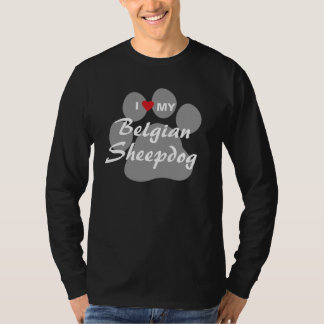 I Love (Heart) My Belgian Sheepdog Tshirt