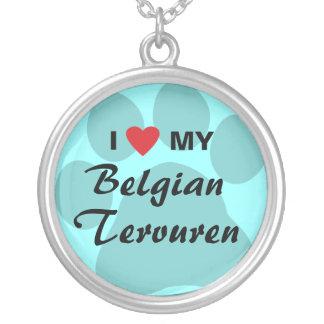 I Love (Heart) My Belgian Tervuren Custom Necklace
