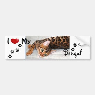 I love (heart) my Bengal Bumper Sticker