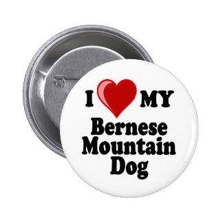 I Love (Heart) My Bernese Mountain Dog 6 Cm Round Badge