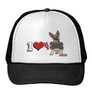 I LOVE HEART MY BFF FOX TERRIER CAP