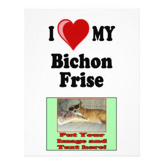 I Love (Heart) My Bichon Frise Dog Full Color Flyer