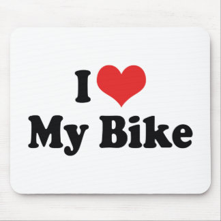 I Love Heart My Bike - Bicycle Motorcycle Lover Mouse Pad