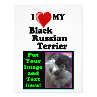 I Love (Heart) My Black Russian Terrier Dog 21.5 Cm X 28 Cm Flyer