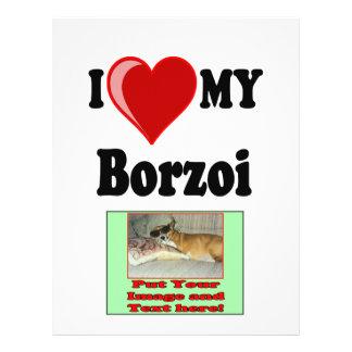 I Love Heart My Borzoi Dog Flyer Design