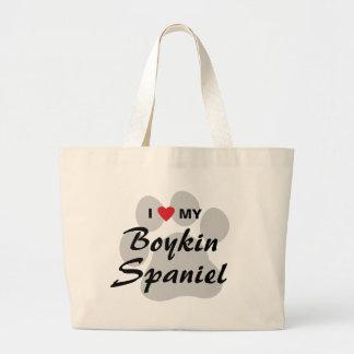 I Love (Heart) My Boykin Spaniel Tote Bags