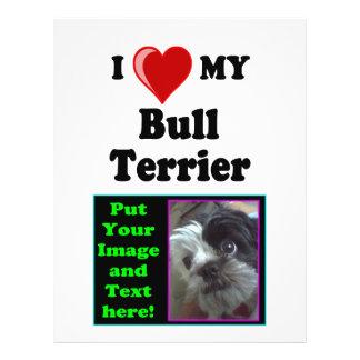 I Love (Heart) My Bull Terrier Dog 21.5 Cm X 28 Cm Flyer