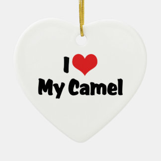 I Love Heart My Camel Christmas Ornament