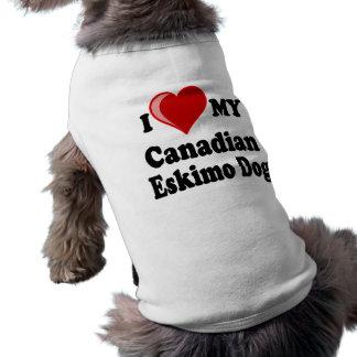 I Love (Heart) My Canadian Eskimo Dog Dog Tee