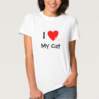 I Love (Heart) My Cat Tee Shirt