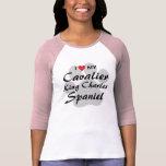 I Love (Heart) My Cavalier King Charles Spaniel T Shirts