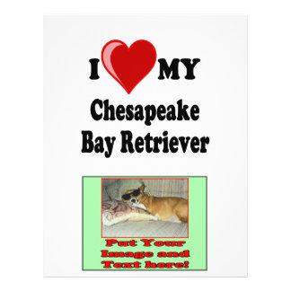 I Love (Heart) My Chesapeake Bay Retriever Dog 21.5 Cm X 28 Cm Flyer