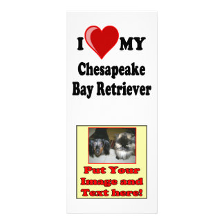 I Love (Heart) My Chesapeake Bay Retriever Dog Personalized Rack Card