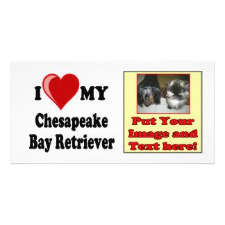 I Love Heart My Chesapeake Bay Retriever Dog Photo Greeting Card