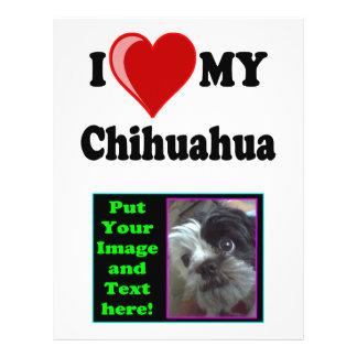 I Love (Heart) My Chihuahua Dog 21.5 Cm X 28 Cm Flyer