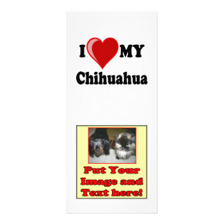 I Love (Heart) My Chihuahua Dog Full Color Rack Card