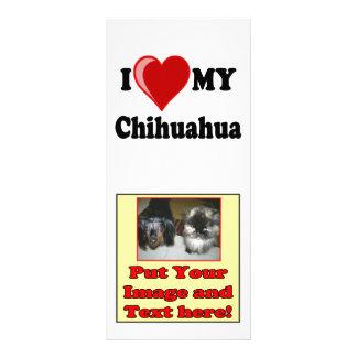 I Love (Heart) My Chihuahua Dog Rack Card
