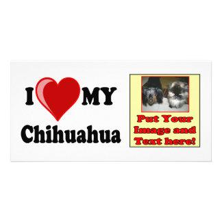 I Love (Heart) My Chihuahua Dog Rack Card Custom Photo Card