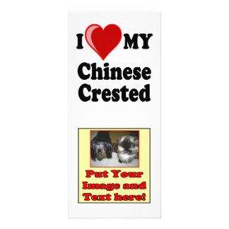 I Love (Heart) My Chinese Crested Dog Full Color Rack Card