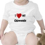 I Love (Heart) My Chiweenie Dog Bodysuits