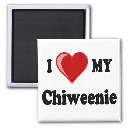 I Love (Heart) My Chiweenie Dog Magnet