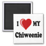 I Love (Heart) My Chiweenie Dog Magnets