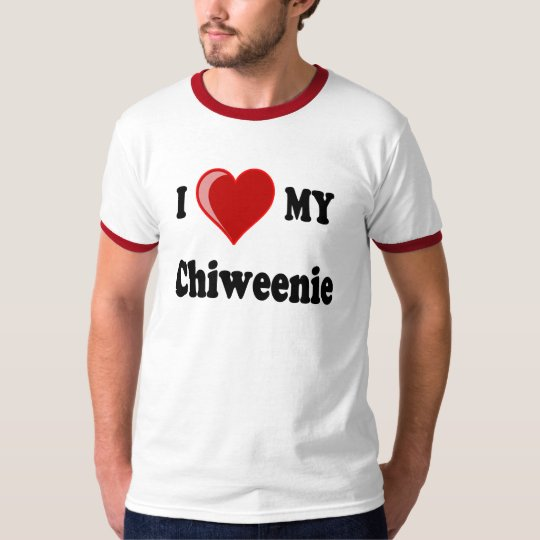 I Love (Heart) My Chiweenie Dog T-Shirt