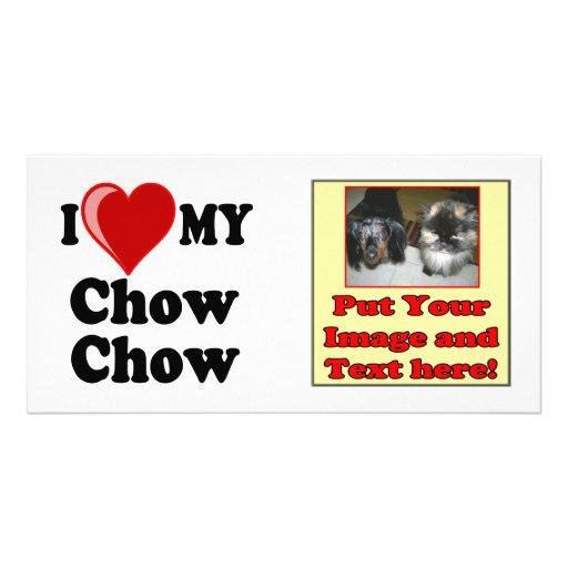 I Love (Heart) My Chow Chow Dog Photo Card Template