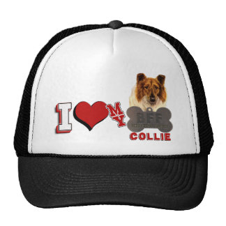 I LOVE HEART MY COLLIE DOGTAG BFF HATS