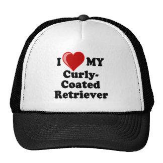 I Love (Heart) My Curly-Coated Retriever Dog Mesh Hats