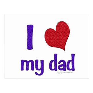 I Love (Heart) my dad Postcard