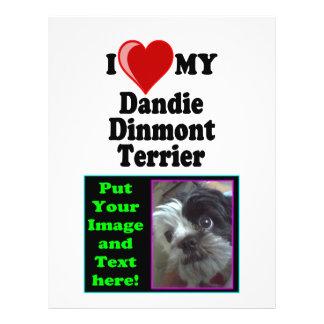 I Love (Heart) My Dandie Dinmont Terrier Dog Flyer Design