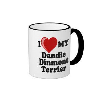 I Love (Heart) My Dandie Dinmont Terrier Dog Coffee Mug