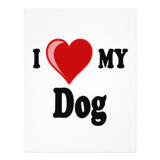 I Love (Heart) My Dog 21.5 Cm X 28 Cm Flyer