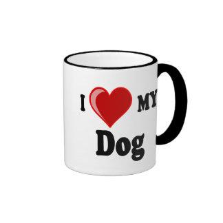 I Love (Heart) My Dog Mug