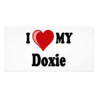 I Love Heart My Doxie Dog Photo Card Template