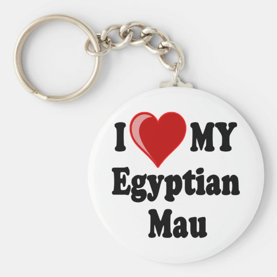 I Love (Heart) My Egyptian Mau Cat Key