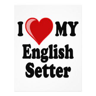 I Love (Heart) My English Setter Dog Full Color Flyer
