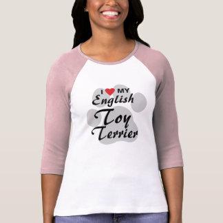 I Love Heart My English Toy Terrier Tee Shirt