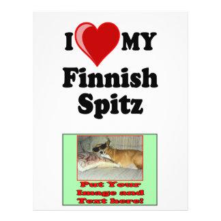 I Love (Heart) My Finnish Spitz Dog 21.5 Cm X 28 Cm Flyer