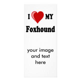 I Love (Heart) My Foxhound Dog Rack Card