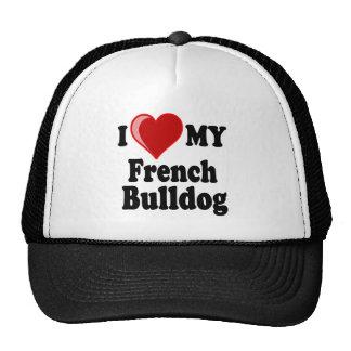 I Love (Heart) My French Bulldog Dog Hats