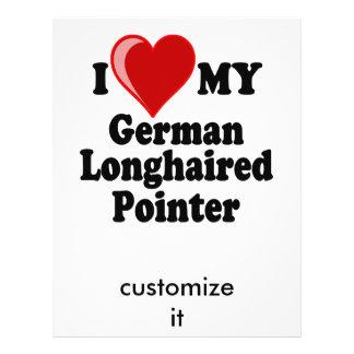 I Love (Heart) My German Longhaired Pointer Dog 21.5 Cm X 28 Cm Flyer