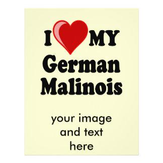 I Love (Heart) My German Malinois Dog 21.5 Cm X 28 Cm Flyer